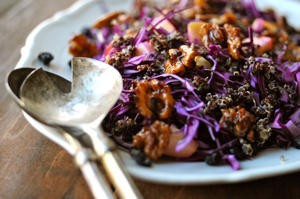 Easy Quinoa Salad Recipes with red cabbage