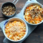 Carrots and Cabbage with Ginger and two kinds of topping