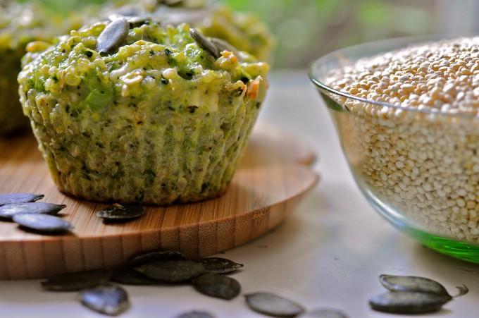 Mini Broccoli Pie With Goat Cheese