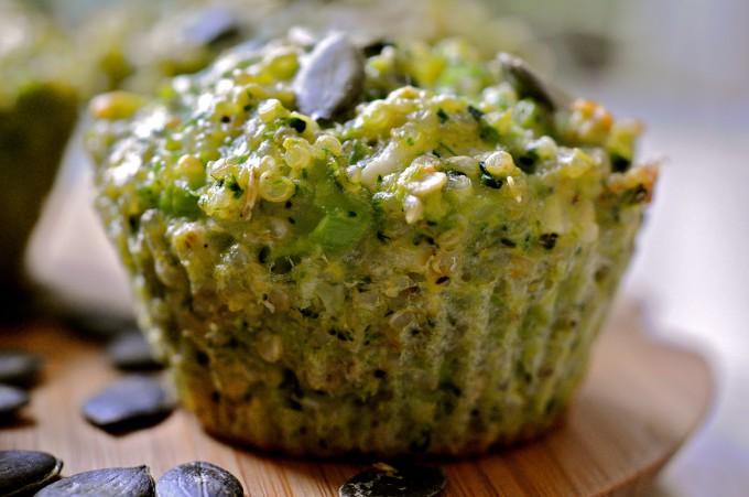 Mini Broccoli Pie with Quinoa & Goat Cheese
