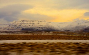 Sunset in Iceland - last drive