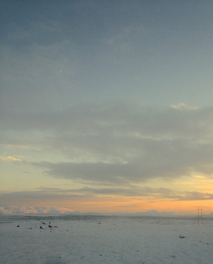 Iceland first snow near Reykjaness