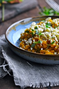 Pumpkin risotto with pearl barley and cheese | www.karlasnordickitchen.com