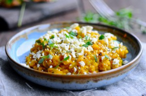 Pumpkin risotto with pearl barley and feta | www.karlasnordickitchen.com