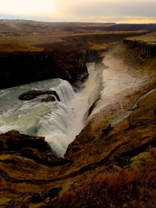 Waterfall iceland Gullfoss