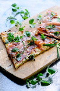 Pizza with Cauliflower Crust  www.karlasnordickitchen.com