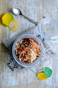 Apple trifle with chia and vanilla