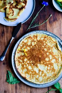 Thin crepe recipe with lemon