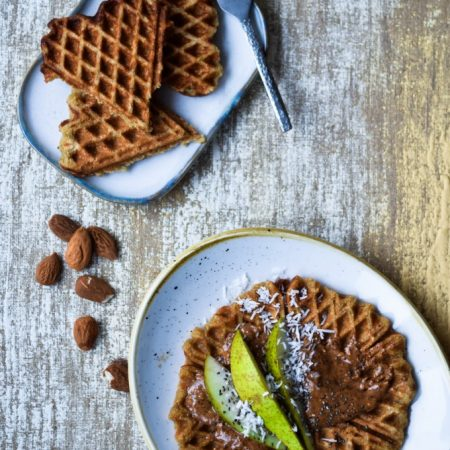 Healthy Banana Waffles with Oats Recipe