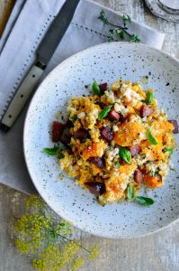 Barley risotto with pumpkin recipe