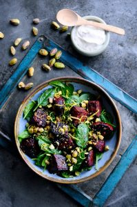 Baked beetroot salad recipe