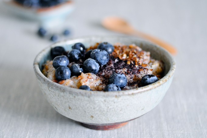 Porridge with rye flakes
