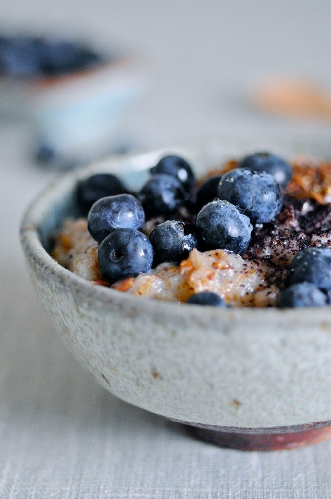 Porridge with whole grain rye