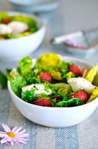 Strawberry Summer Salad with Radishes