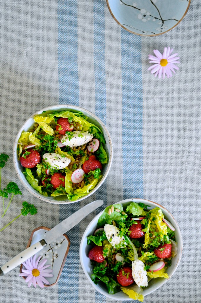 Strawberry Summer Salad with Cheese