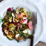 Candy striped beets salad