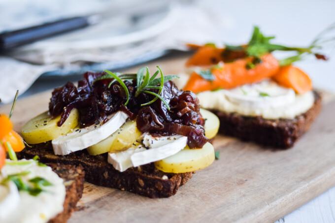 Open face sandwich recipe