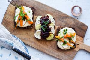 Open faced sandwich blog recipe