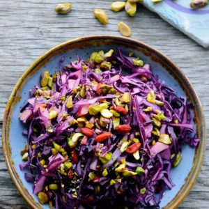 Red Cabbage Salad with Ginger