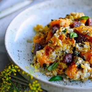 Pearl Barley risotto with pumpkin