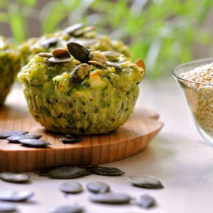 Mini Broccoli Pie With Goat Cheese and Quinoa